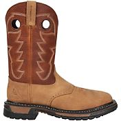 Rocky Men's Original Ride 11'' Waterproof Steel Toe Work Boots