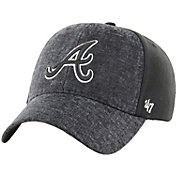 '47 Men's Atlanta Braves Zonda MVP Black Adjustable Hat