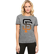 '47 Women's San Francisco Giants Super Hero Grey Scoop Neck T-Shirt