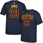 adidas Men's Cleveland Cavaliers LeBron James #23 climalite Navy T-Shirt