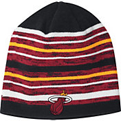 adidas Men's Miami Heat Team-Color Striped Knit Hat