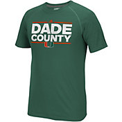 adidas Men's Miami Hurricanes Green Nickname Short Sleeve T-Shirt