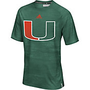 adidas Men's Miami Hurricanes Green Sideline Training T-Shirt