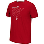 adidas Men's Indiana Hoosiers Crimson Net Logo Basketball T-Shirt