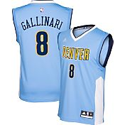 adidas Youth Denver Nuggets Danillo Gallinari #8 Light Blue Replica Jersey