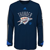 adidas Youth Oklahoma City Thunder Navy Long Sleeve Shirt