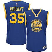 adidas Youth Golden State Warriors Kevin Durant #35 Road Royal Replica Jersey