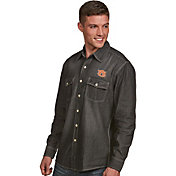 Antigua Men's Auburn Tigers Long Sleeve Button Up Chambray Shirt