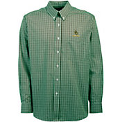 Antigua Men's Baylor Bears Green Monarch Woven Long Sleeve Shirt