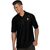 Antigua Men's Indiana Hoosiers Black Illusion Polo