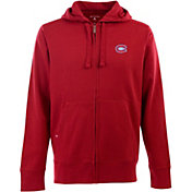 Antigua Men's Montreal Canadiens Red Full-Zip Fleece Hoodie