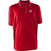 Antigua Men's Montreal Canadiens Xtra-Lite Elite Red Polo