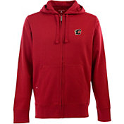 Antigua Men's Calgary Flames Red Full-Zip Fleece Hoodie