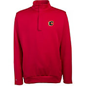 Antigua Men's Calgary Flames Delta Red Quarter-Zip Top