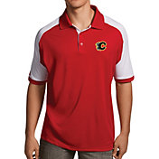Antigua Men's Calgary Flames Red/White Century Polo