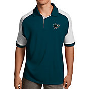 Antigua Men's San Jose Sharks Teal/White Century Polo