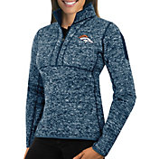 Antigua Women's Denver Broncos Fortune Navy Pullover Jacket