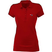 Antigua Women's New England Patriots Red Spark Polo
