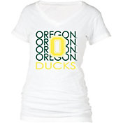 boxercraft Women's Oregon Ducks Perfect Fit V-Neck White T-Shirt