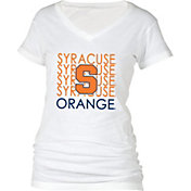 boxercraft Women's Syracuse Orange Perfect Fit V-Neck White T-Shirt