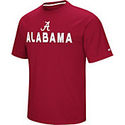 Colosseum Athletics Men's Alabama Crimson Tide Crimson Pique Performance T-Shirt
