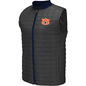 Colosseum Athletics Men's Auburn Tigers Grey Rectangle Padded Vest