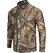 Colosseum Athletics Men's Florida State Seminoles Camo Decoy Quarter-Zip Wind Shirt