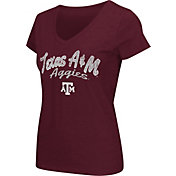 Colosseum Athletics Women's Texas A&M Aggies Maroon Script Graphic V-Neck T-Shirt