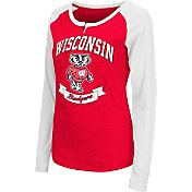 Colosseum Athletics Women's Wisconsin Badgers Red Healy Long Sleeve Shirt