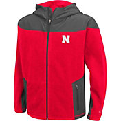 Colosseum Athletics Youth Nebraska Cornhuskers Scarlet Full-Zip Fleece Jacket