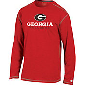 Champion Georgia Bulldogs Red Earn It Long Sleeve Shirt