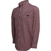 Campus Specialties Men's Texas Tech Red Raiders Multi-Checkered Woven Long Sleeve Shirt