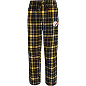 Concepts Sport Men's Pittsburgh Steelers Ultimate Flannel Black Pants