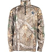 Dallas Cowboys Merchandising Men's Realtree Camouflage Quarter-Zip Pullover
