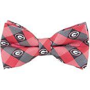Eagles Wings Georgia Bulldogs Checkered Bow Tie