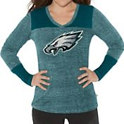 G-III for Her Women's Philadelphia Eagles Goal Line Green Long Sleeve Shirt