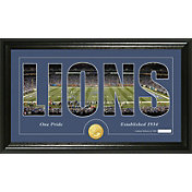 The Highland Mint Detroit Lions Framed 'Silhouette' Bronze Coin Photo Mint