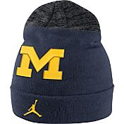 Jordan Men's Michigan Wolverines Blue/Grey Sideline Beanie