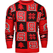 Klew Men's NC State Wolfpack Red Ugly Sweater