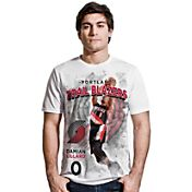 Levelwear Men's Portland Trail Blazers Damian Lillard Center Court White T-Shirt