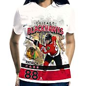 Levelwear Women's Chicago Blackhawks Patrick Kane #88 Center Ice White T-Shirt