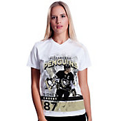 Levelwear Women's Pittsburgh Penguins Sidney Crosby #87 Center Ice White T-Shirt