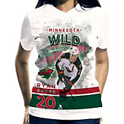 Levelwear Women's Minnesota Wild Ryan Suter #20 Center Ice White T-Shirt