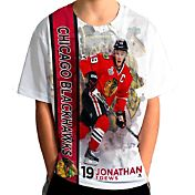 Levelwear Youth Chicago Blackhawks Jonathan Toews #19 Breakaway White T-Shirt