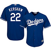 Majestic Boys' Replica Los Angeles Dodgers Clayton Kershaw #22 Cool Base Alternate Royal Jersey