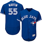 Majestic Men's Authentic Toronto Blue Jays Russell Martin #55 Alternate Royal Flex Base On-Field Jersey