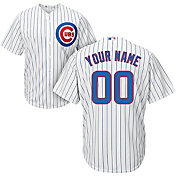 Majestic Men's Custom Cool Base Replica Chicago Cubs Home White Jersey