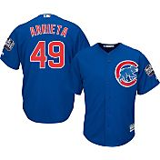 Majestic Men's 2016 World Series Replica Chicago Cubs Jake Arrieta #49 Cool Base Alternate Royal Jersey