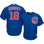 Majestic Men's Replica Chicago Cubs Ben Zobrist #18 Cool Base Alternate Royal Jersey