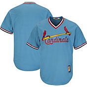 Majestic Men's Replica St. Louis Cardinals Cool Base Light Blue Cooperstown Jersey